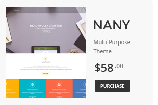 Nany - Creative Multipurpose WordPress Theme